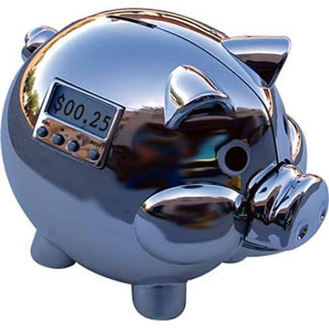 Chrome Piggy Banks