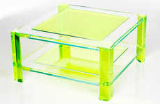 Fashion Designer Furniture - Alexandra von Furstenberg's Luscious Lucite Tables