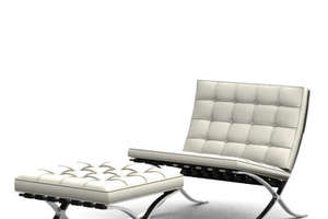 Knoll's Vintage Style Barcelona Chair For Modern Lounging