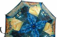 Instant Artsy Rain Shields - Van Gogh Automatic Umbrella Keeps You Dry in Style