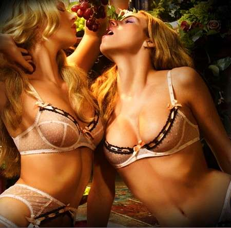 Hedonistic Underwear Ads - Agent Provocateur Models Engage in Dionysian Delights for New Campaign