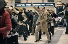 Guerrilla Flash Mob Campaigns - Synchronized Dancing at London Liverpool Street for T-Mobile
