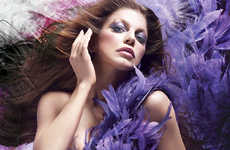 Big Bird-Inspired Cosmetics Ads - Fergie is Feathery in MAC's Viva Glam VI Lip Gloss Campaign