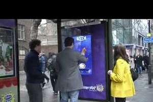 Cadbury Touchscreen Bus Shelter Game