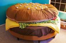Hamburger Beds - Funky Food Furniture, Or Beefed-Up Guerrilla Marketing?