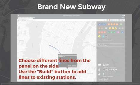 Subway System Games - 'Brand New Subway' Lets Users Create Their Own Versions of the NYC Subway