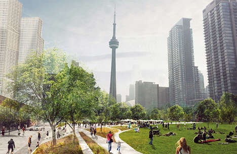 Railroad-Topping Parks - 'Rail Deck Park' Will Add Green Space to Toronto's Downtown Core