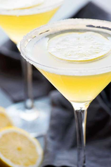 Sophisticated Candied Martinis - The Lemon Drop Martini Offers a Sweet Drink Inspired by Bonbons