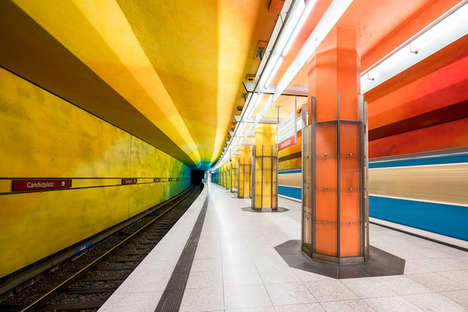 Chromatic Subway Captures - Chris Forsyth Explores Transit Stations in 'The Metro Project' Series