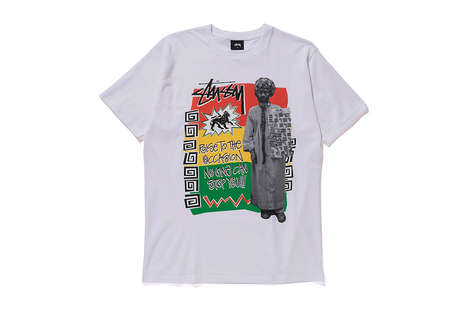 Rastafarian-Inspired T-shirts - Stussy's Fall Tees Draw from Jaimaican Themes and Togetherness