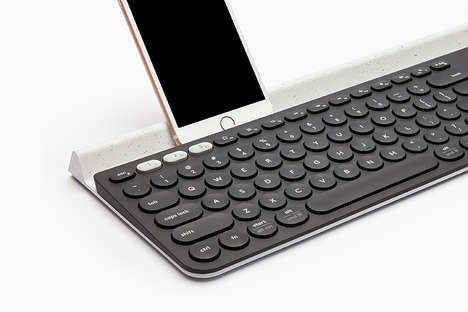 Slender Multi-Device Keyboards - The Feiz Design Studio K780 Computer Keyboard is Ultra Slim in Size