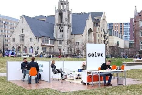 Campus Tour Hiring Campaigns - 'Solve' Set Up a Small-Scale Office on Various College Campuses