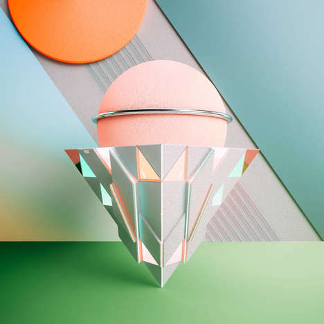 Prismatic Digital Sculptures - These 3D Compositions Artistically Reflect Times During the Day