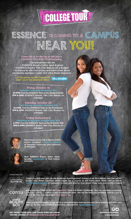 Magazine-Branded Campus Tours - The 2015 Essence College Tour Aimed to Inspired College Students