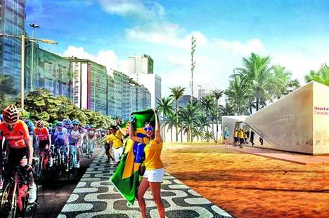 Olympic Beverage Zones - Coca-Cola is Setting Up #ThatsGold Fan Stations in Rio