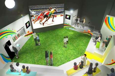Stadium-Inspired Lounges - Panasonic's Olympic Marketing Stunt Introduces a 'Stadium of Wonders'