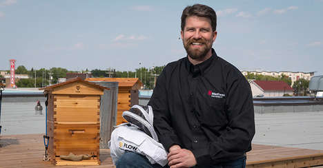 Campus Beekeeping Programs - MacEwan University is Raising Bees on Top of Campus Buildings
