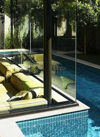 Pool-Level Sunken Dens - The 'Brighton 2' House Features a Sunken Living Room Adjacent to the Pool