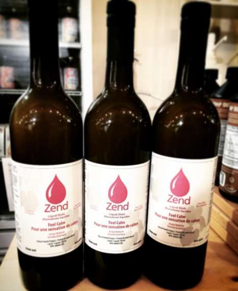 Calming Botanical Elixirs - Zend's 'Feel Calm' Liquid Shots are Made with Soothing Kava Kava