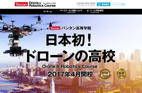 Drone Piloting Courses - Japan's Vantan High School is Running a Program on Drone Operation