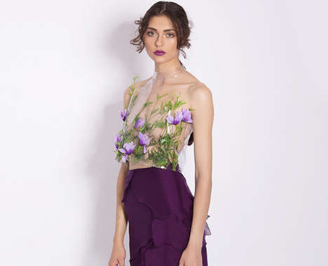 Transparent Floral Shirts