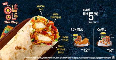 Mexican-Inspired Chicken Wraps - The Olé Olé Rice Wrap Brings Mexican Cuisine to KFC Malaysia