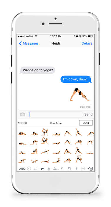 Comedic Yoga Emojis - The YOGOJI Keyboard Offers Wellness Enthusiasts a Voice of Their Own