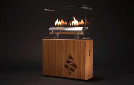 Fireplace-Inspired Stereos - The Fireside Audiobox Changes Flame Patterns To Match the Music