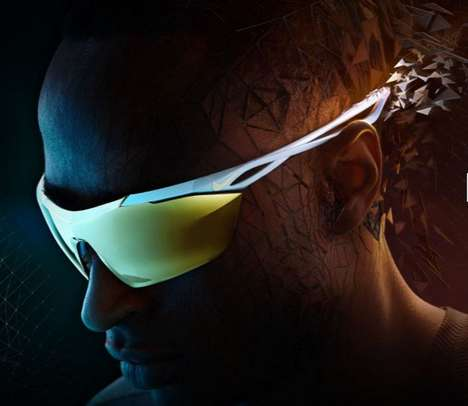 Aerodynamic Olympic Sunglasses - Nike's 'Wing' Sunglasses are for High-Performing Athletes