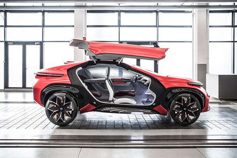 Gullwing SUV Concepts - The Chery FV2030 Concept Car's Unique Door Design Sets It Apart