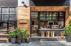 Rustic Outdoor Coffee Shops - This Coffee Shop is Simultaneously Inside and Outside