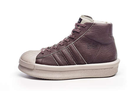 Textured High-Top Sneakers - These adidas Sneakers Were Designed with the Help of Rick Owens