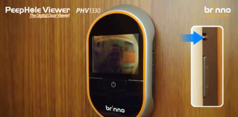 Connected Peephole Viewers - The Brinno PHV 1330 Lets You Record Peephole Images To An SD Card