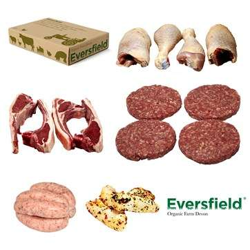 Organic Barbecue Bundles - Eversfield's 'Organic BBQ Box' Supplies Burgers, Sausages and Wings