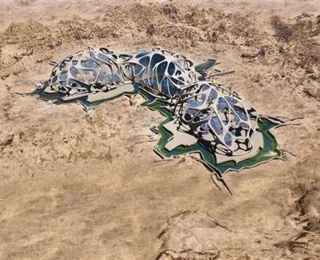 Martian Desert Colonies
