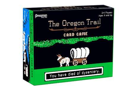 Survival-Based Card Games - Pressman Toy Released a Card Game Version of 'The Oregon Trail'