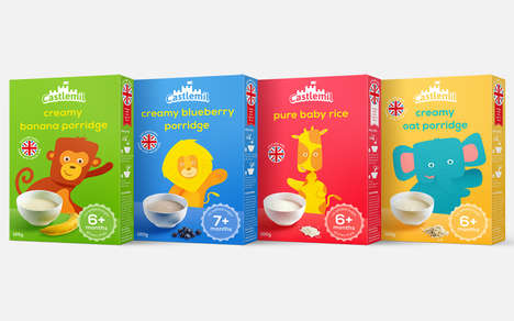 Infant-Specific Cereals - The New Castlemil Cereals are Specifically Designed for Babies