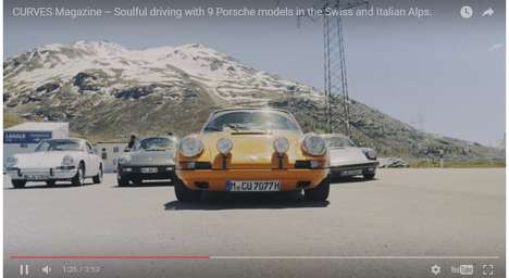 Mountainous Car Films - This Luxury Car Video Features Porsche Cars Driving Through the Alps