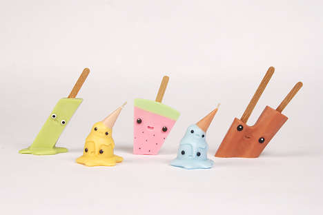 Melting Ice Cream Candles - Kim Kim Lab's Candle Series Features Quirky Characters