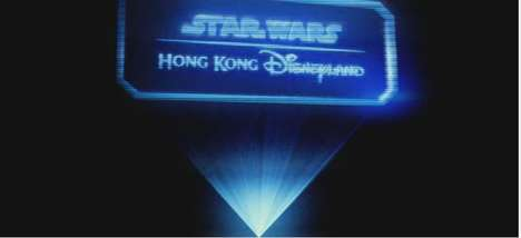 Holographic Disney Campaigns - These Prisms Capture the Hong Kong Disneyland Star Wars Experience