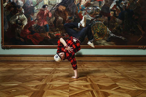 Rebellious Skater Lookbooks - G-Shock Features Skaters Rolling Around the Tretyakov Gallery