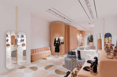Mod-Inspired Shop Interiors - These REDvalentino Shop Interiors Embody Modernism and Retro Glamor