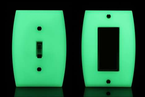 Luminous Light Switches - These Light Switches Glow in the Dark When Turned On
