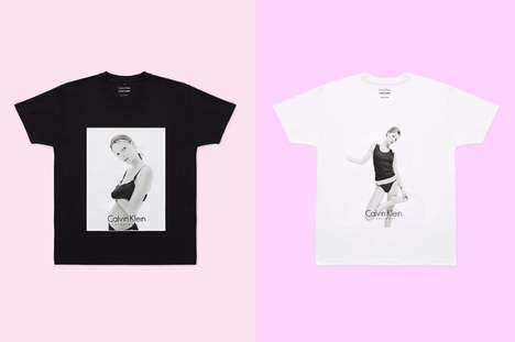Nostalgic Collaborative T-Shirts - This Apparel Reminiscences on an Iconic Kate Moss Editorial