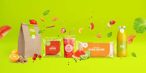 Transparent Fast Food Packaging - This Brazilian Fast Food Chain Offers a Nutritious Menu