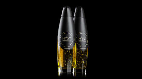 Gold-Infused Olive Oils - This Sophisticated Olive Oil is Made with High-Quality Ingredients