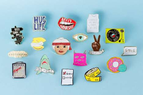 Fashionable Feminist Pins - The 'Wildfang x I Am That Girl' Collection Celebrates Female Empowerment
