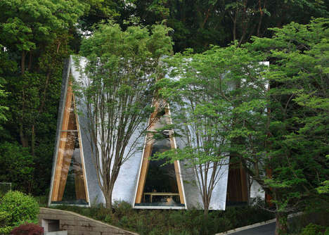 Hand-Bent Aluminum Rooves - The 'Sayama Forest Chapel' is a Testament to Patience and Artisanship