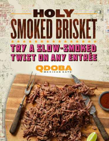 Slow-Smoked Brisket Offerings - Qdoba Now Offers Smoked Brisket as a New Meat Option