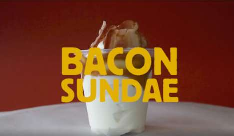 Bacon-Topped Sundaes - Burger King New Zealand Added a Bacon Sundae to Its Meatatarian Range